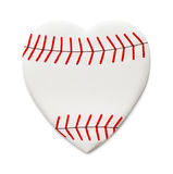 Love Baseball. Heart Shaped Baseball Isolated on White Background Stock Photography