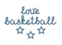 Love Basketball Decoration Royalty Free Stock Photo