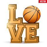 Love basketball inscription. Royalty Free Stock Image