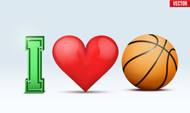 Love basketball inscription. Royalty Free Stock Photo