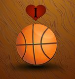 Love and basketball vector background. Design concept vector illustration