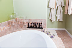 Love in the Bathroom Royalty Free Stock Photography