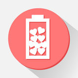 Love battery icon great for any use. Vector EPS10. Stock Image
