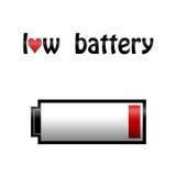 Love battey illustration concept Stock Images