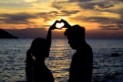 love is bauetiful sunset colorfullsky Stock Images