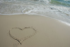 Love on beach Stock Photos