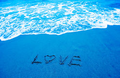 Love and beach Royalty Free Stock Photography