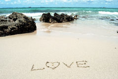 Love on the beach Royalty Free Stock Photography
