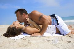 Love on a beach Royalty Free Stock Images