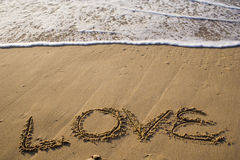 Love at the beach Stock Image