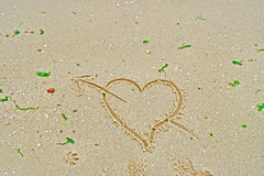 Love in the beach Royalty Free Stock Photography