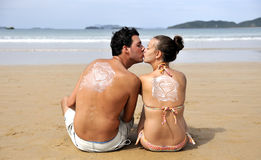 Love on the beach Royalty Free Stock Images