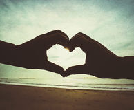Love beach Royalty Free Stock Photography
