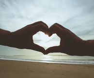 Love beach Stock Photo