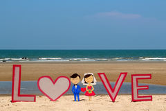 Love on the beach Stock Images