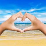 Love at the beach Stock Photos