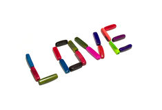 Love beads Royalty Free Stock Photo