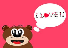 Love bear Stock Images