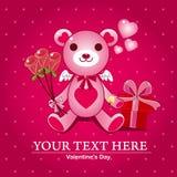 Love Bear. Cartoon vector illustration Royalty Free Stock Photo