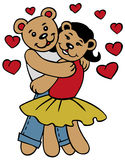 Love bears Stock Image