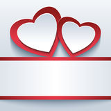 Love beautiful background with two 3d hearts Royalty Free Stock Image