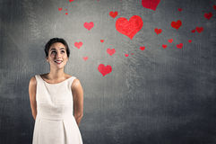 In Love. Beautiful thinking about the big love Royalty Free Stock Image