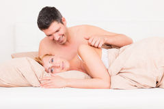 Love bed Royalty Free Stock Photo
