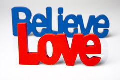 Love and Believe Royalty Free Stock Photo