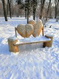 Love bench in the park royalty free stock images