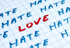 Love beneath the I hate you words. Photo Concept Stock Images