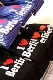 Love Berlin. I love Berlin tshirts piled up Stock Photos