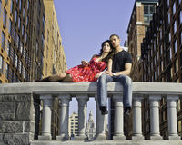 Love in Big City Stock Photography