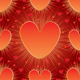 Love big small line ray seamless pattern Royalty Free Stock Image