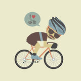 Love bike Royalty Free Stock Images