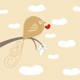 Love bird. Love concept decorative bird vector Stock Photo