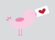 Love Bird. Valentines Day love bird letter Stock Photography