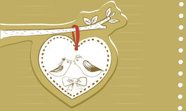 Love Of Bird. One tale of Saint Valentine's Day on February,14 is love of birds Royalty Free Stock Images