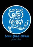 Love Bird Club logo Royalty Free Stock Photos