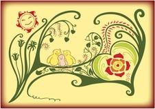 Love bird family Royalty Free Stock Photography