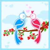 Love bird in Happy Valentine's Day background Royalty Free Stock Photography