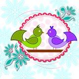 Love bird in Happy Valentine's Day background Stock Photo