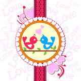 Love bird in Happy Valentine's Day background Stock Images