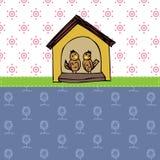 Love bird in house vector background Stock Photo