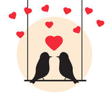 Love bird  illustration. love bird concept in flat style. Royalty Free Stock Image