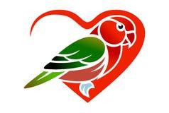 Love bird logo vector dsign. Concept Stock Photography