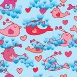 Love bird love sky seamless pattern Stock Photo
