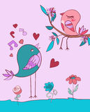 Love bird song Royalty Free Stock Photography
