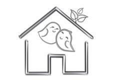 Love bird together inside house illustration template Stock Images
