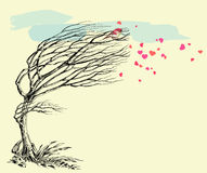 Love bird and tree Stock Image