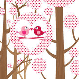 Love Bird Valentine Card Royalty Free Stock Images